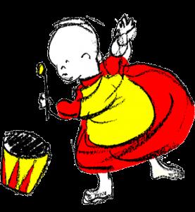 Barn med trumma